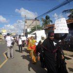 Manifestation en faveur des droits des femmes (Batticaola)