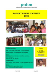 Rapport d'Activités 2009