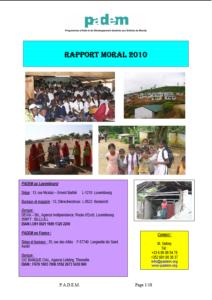 Rapport d'Activités 2010